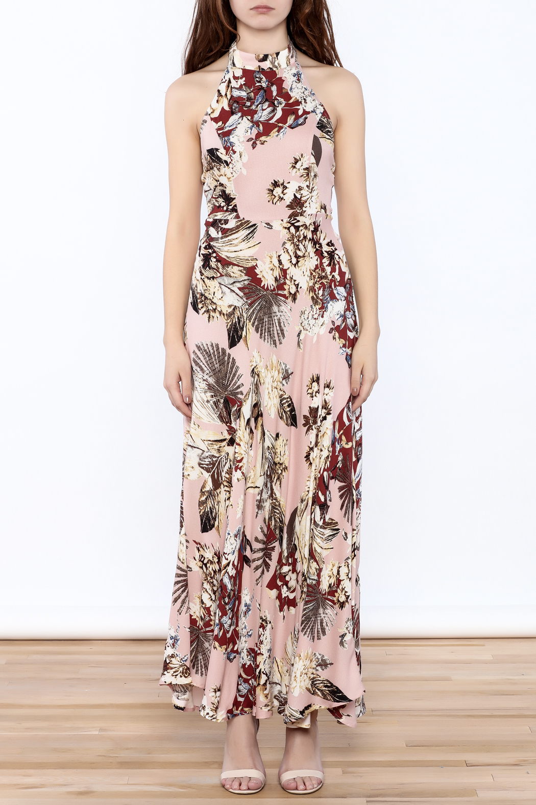 558cb812321 AAKAA Blush Halter Maxi from Los Angeles by Chikas — Shoptiques