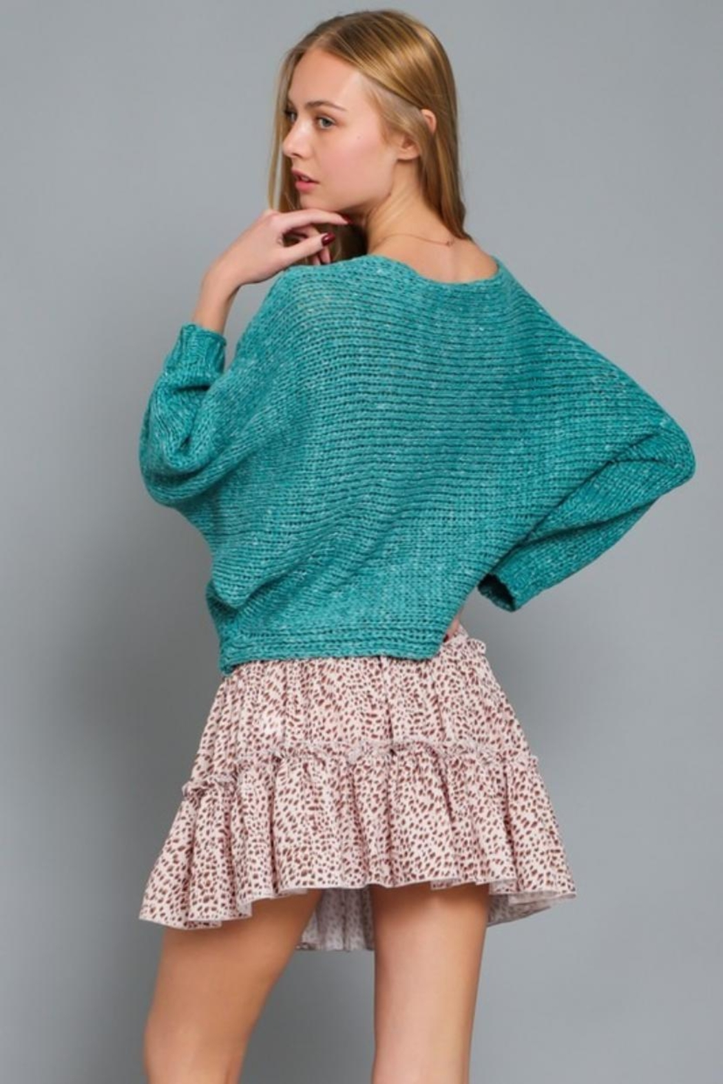 AAKAA Boat Neck Sweater - Side Cropped Image