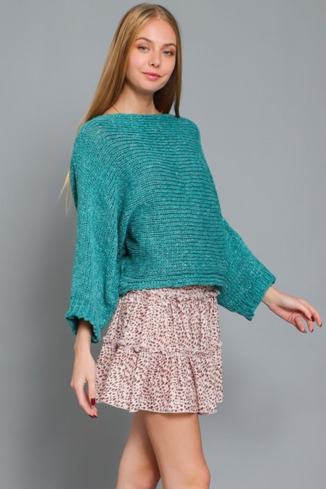 AAKAA Boat Neck Sweater - Front Full Image