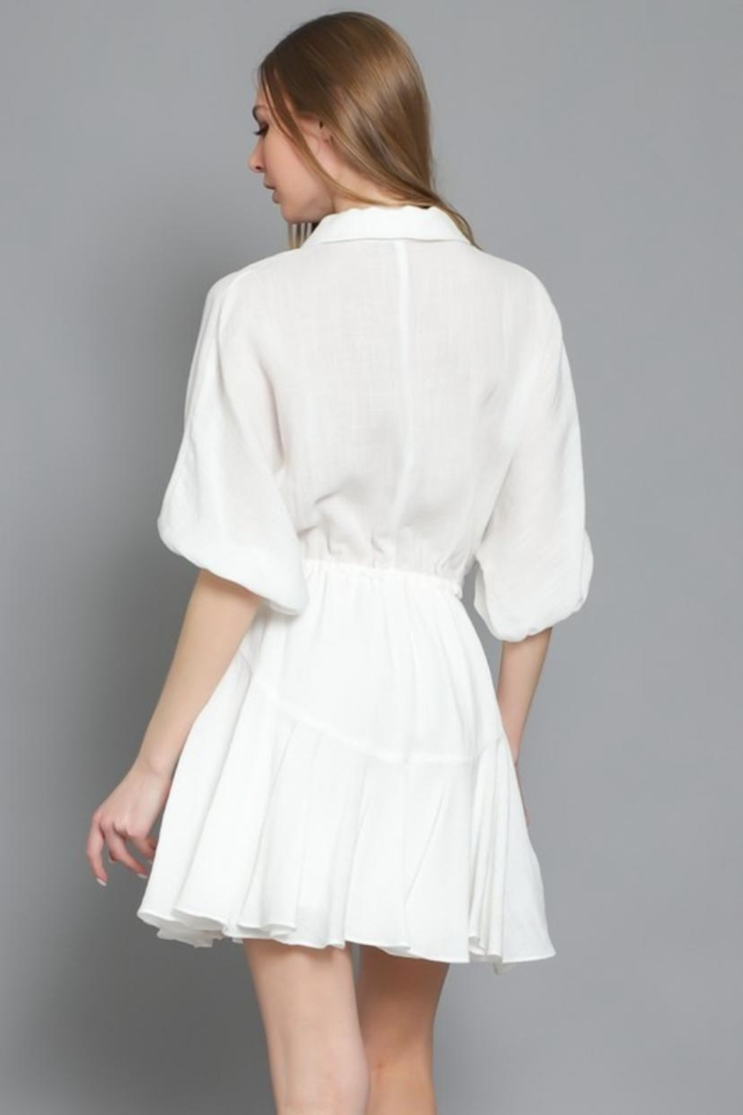 AAKAA Button Down Dress - Side Cropped Image