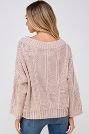 AAKAA Cable Knit Sweater - Back cropped