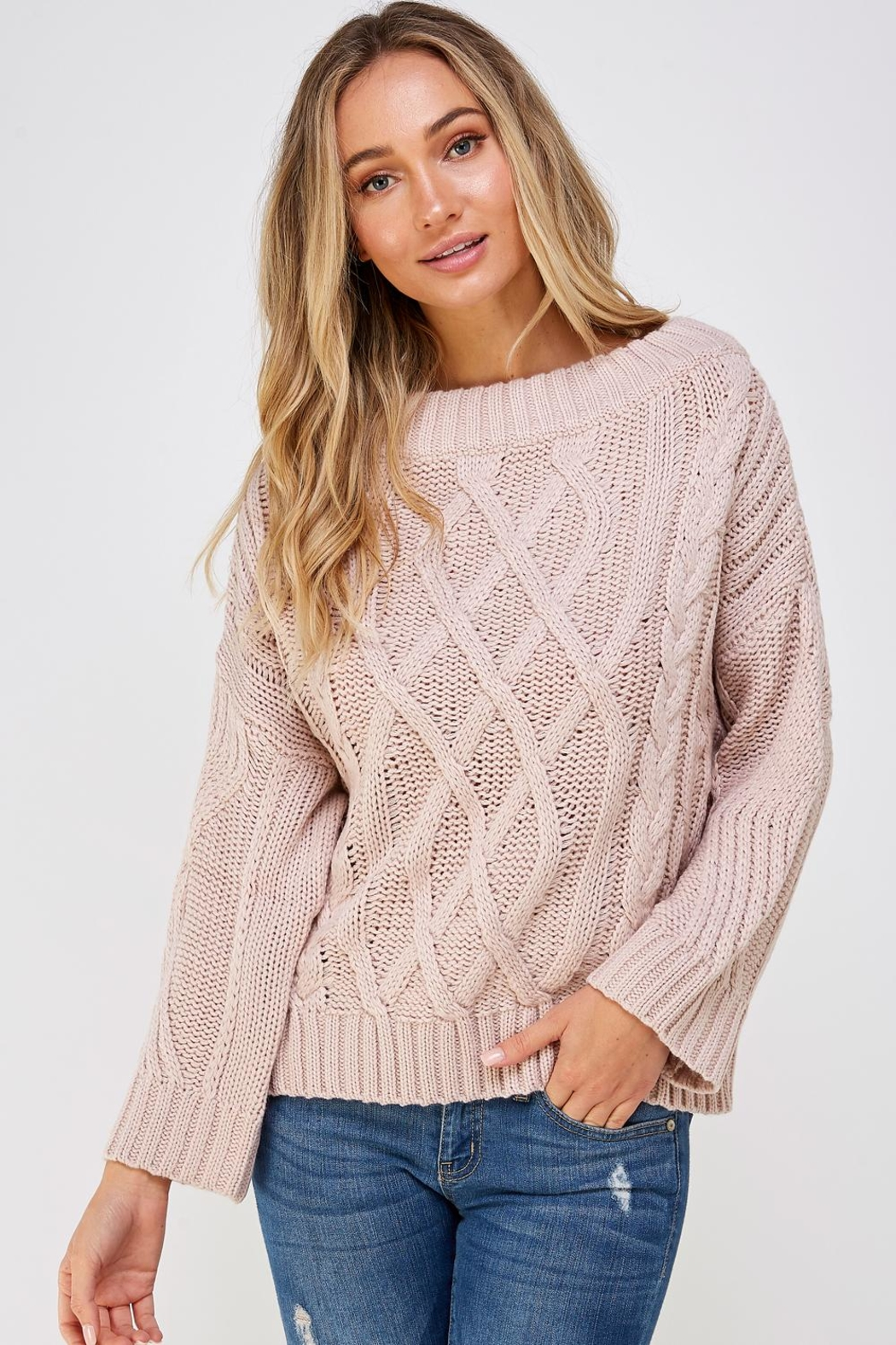 AAKAA Cable Knit Sweater - Front Full Image
