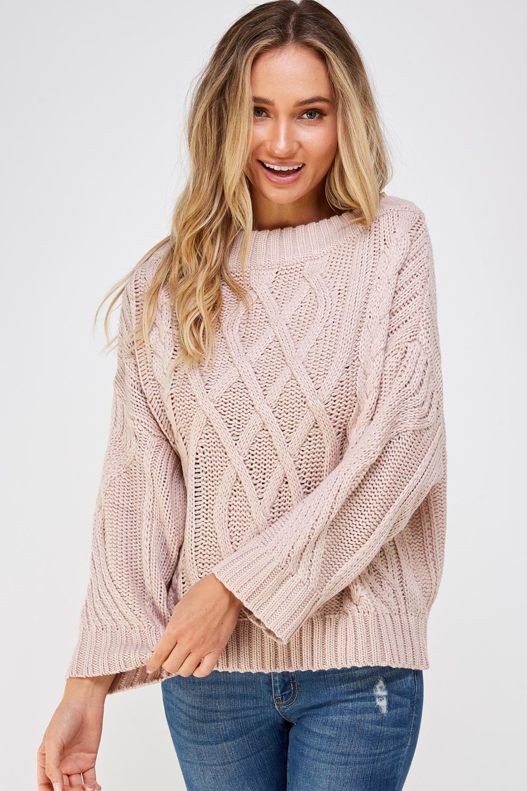 AAKAA Cable Knit Sweater - Main Image