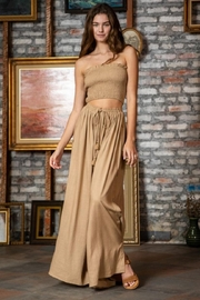 AAKAA Camel Pants Set - Front cropped