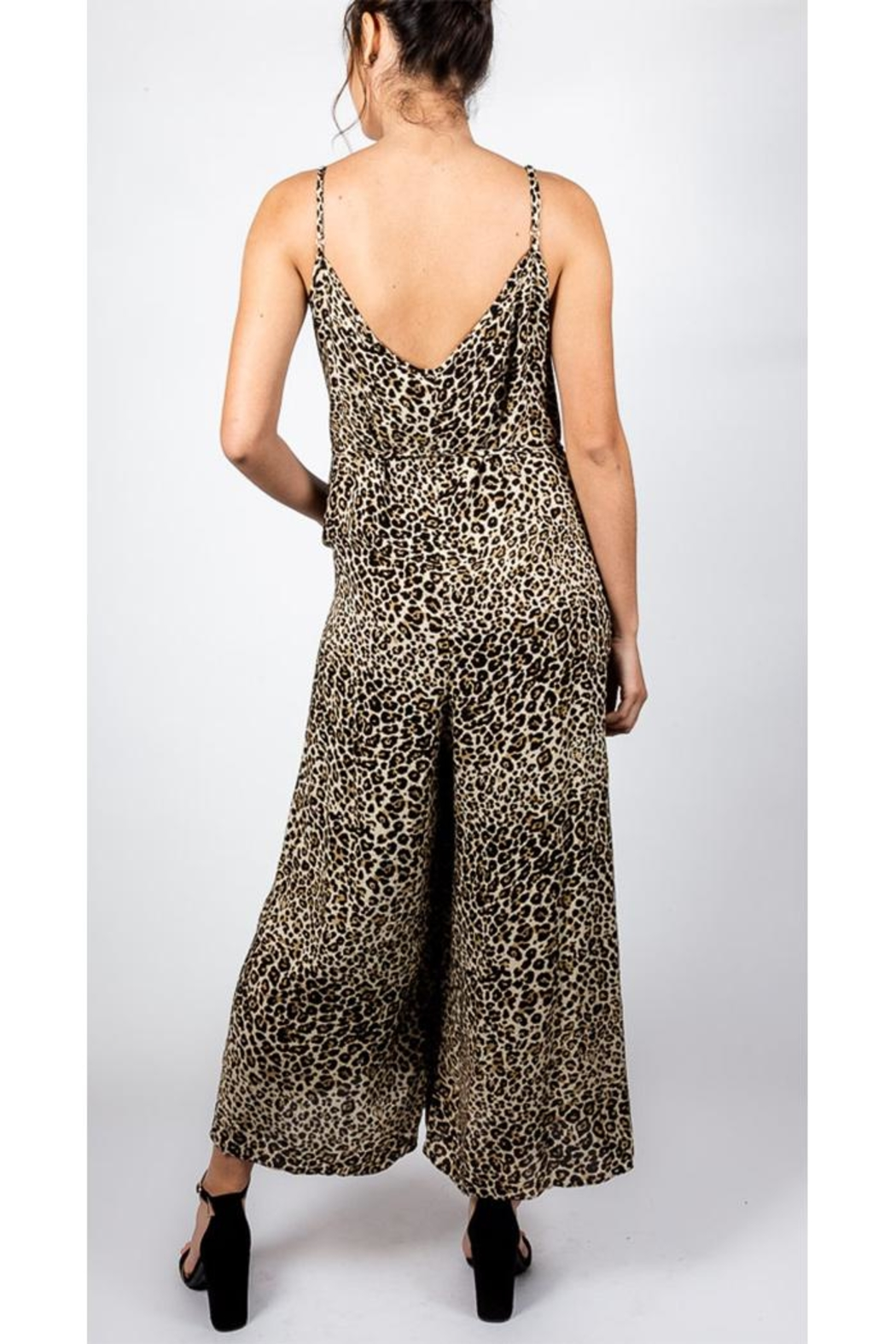 AAKAA Cheetah Chic Jumpsuit - Front Full Image
