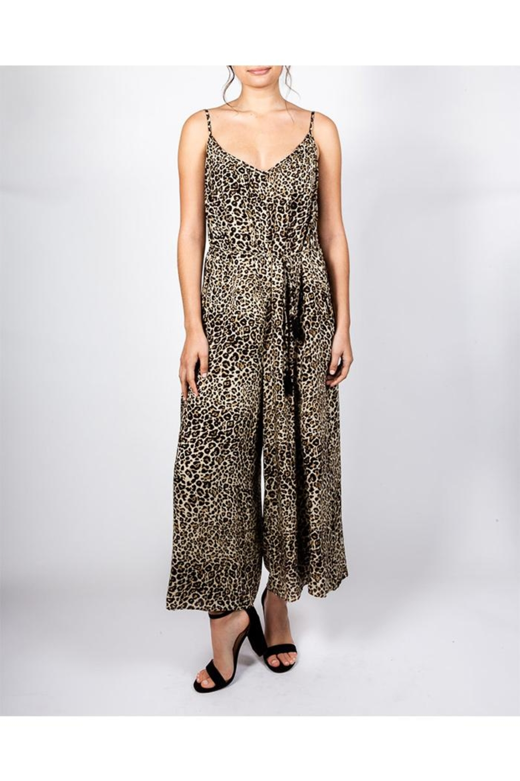 AAKAA Cheetah Chic Jumpsuit - Front Cropped Image