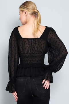 AAKAA Dotted Square-Neck Blouse - Alternate List Image