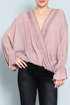 AAKAA Embroidered Surplice Top - Product List Image