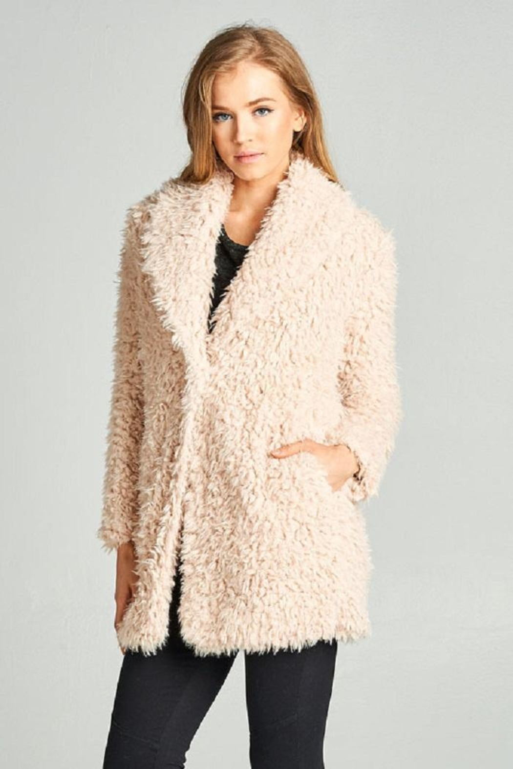 AAKAA Faux Fur Coat - Front Cropped Image