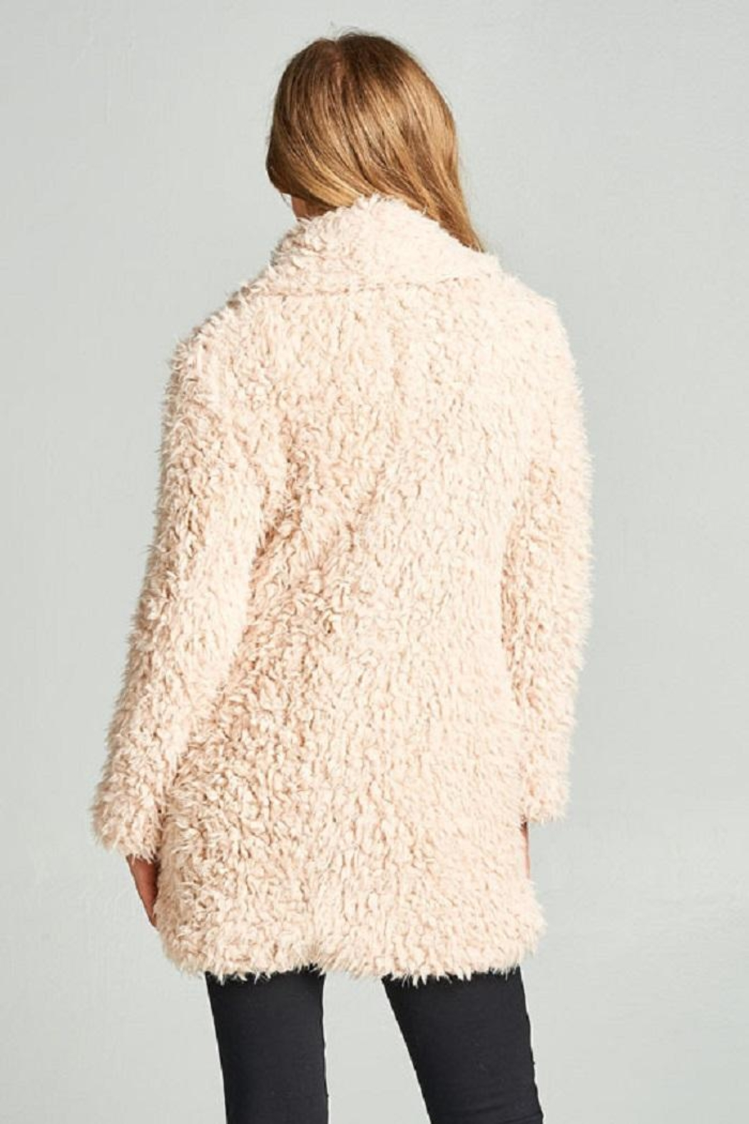 AAKAA Faux Fur Coat - Side Cropped Image