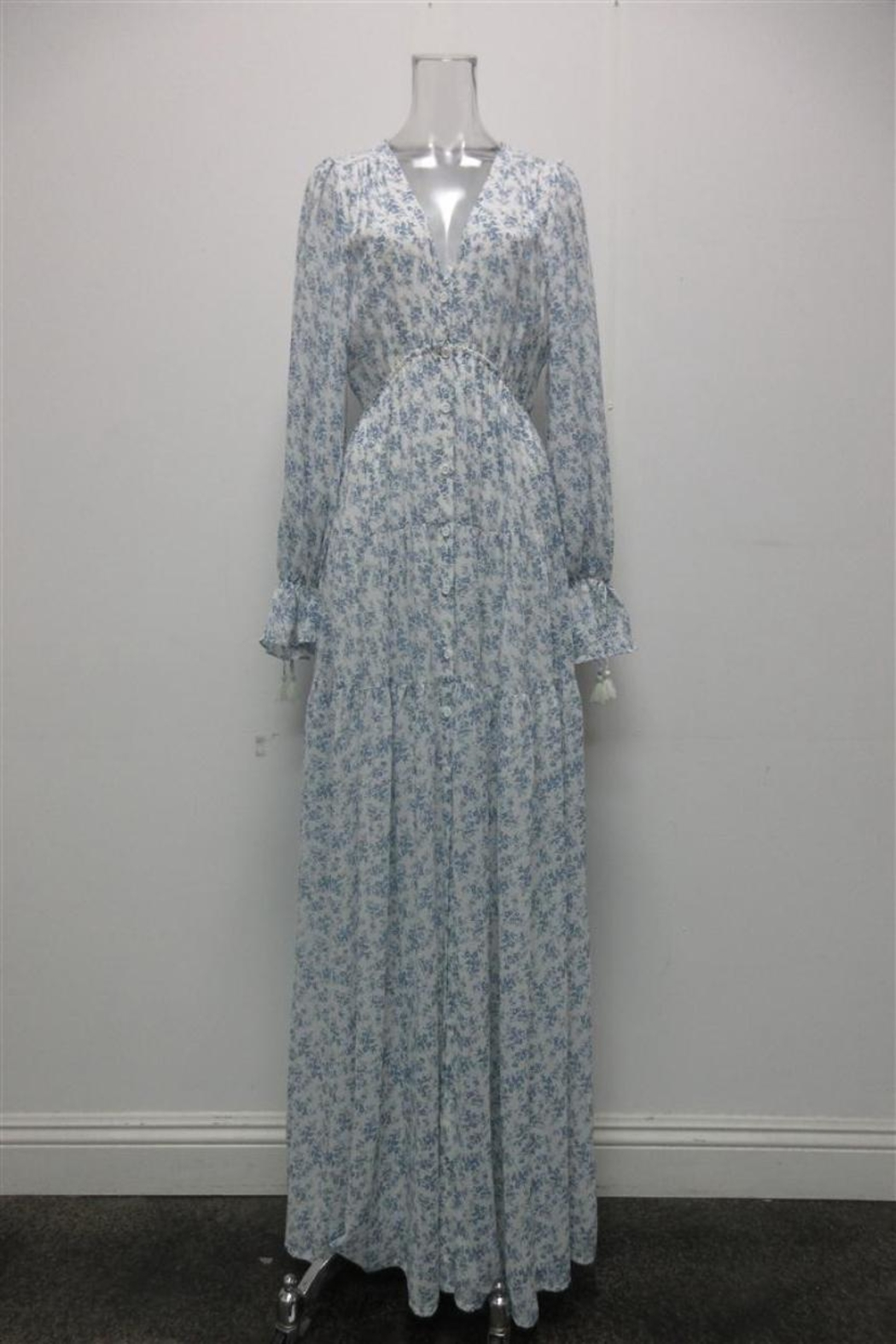AAKAA Floral Button-Down Maxi - Main Image