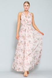 AAKAA Floral Halter Maxi - Front cropped
