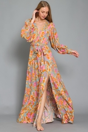 AAKAA Floral Maxi Dress - Front cropped