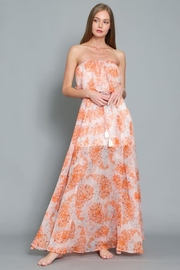 AAKAA Floral Print Maxi Dress - Back cropped