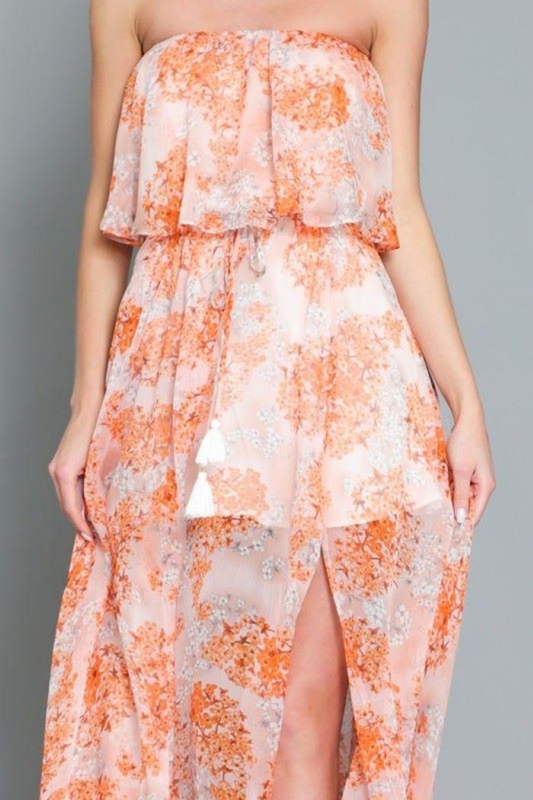 AAKAA Floral Print Maxi Dress - Side Cropped Image