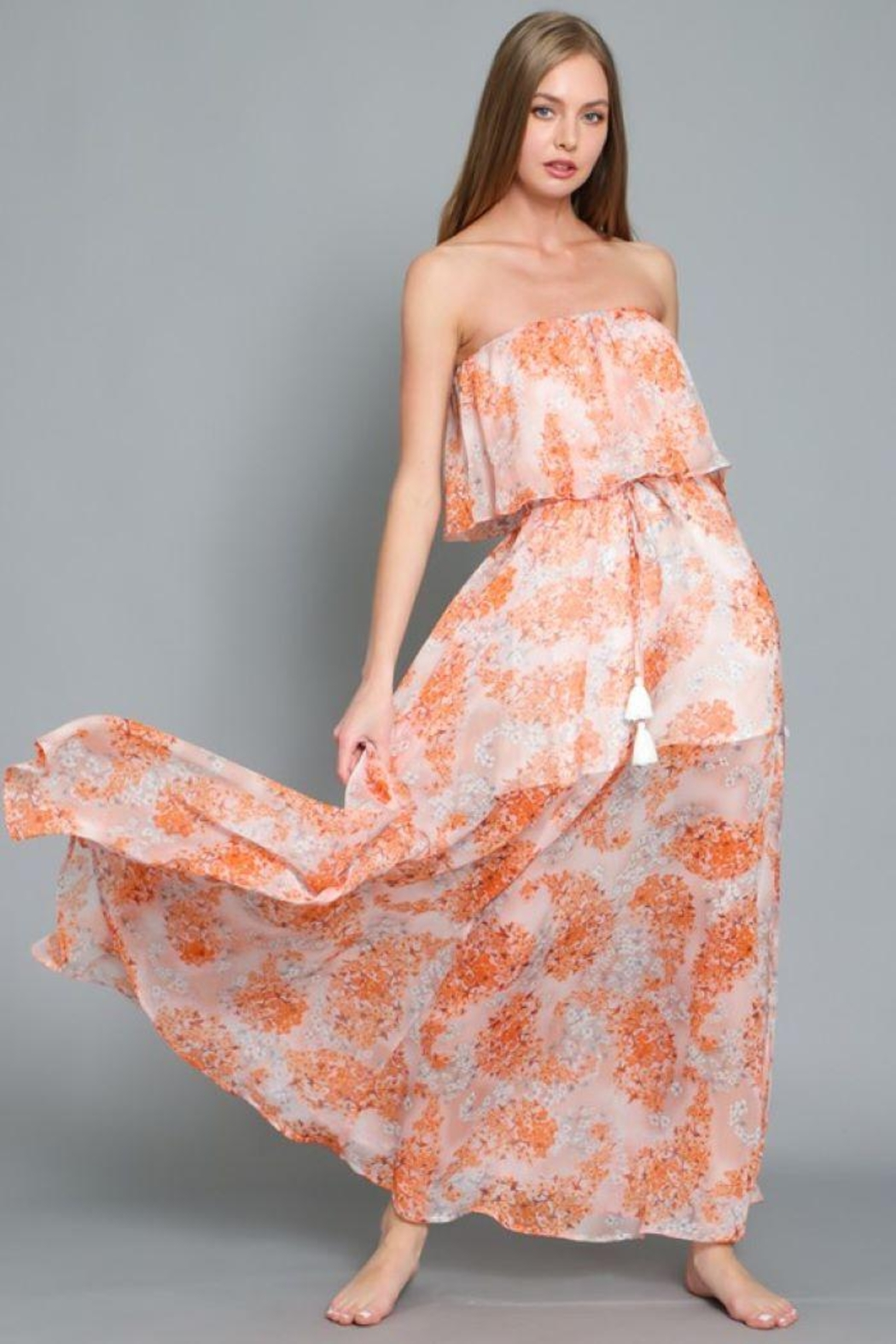 AAKAA Floral Print Maxi Dress - Main Image
