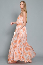 AAKAA Floral Print Maxi Dress - Front full body