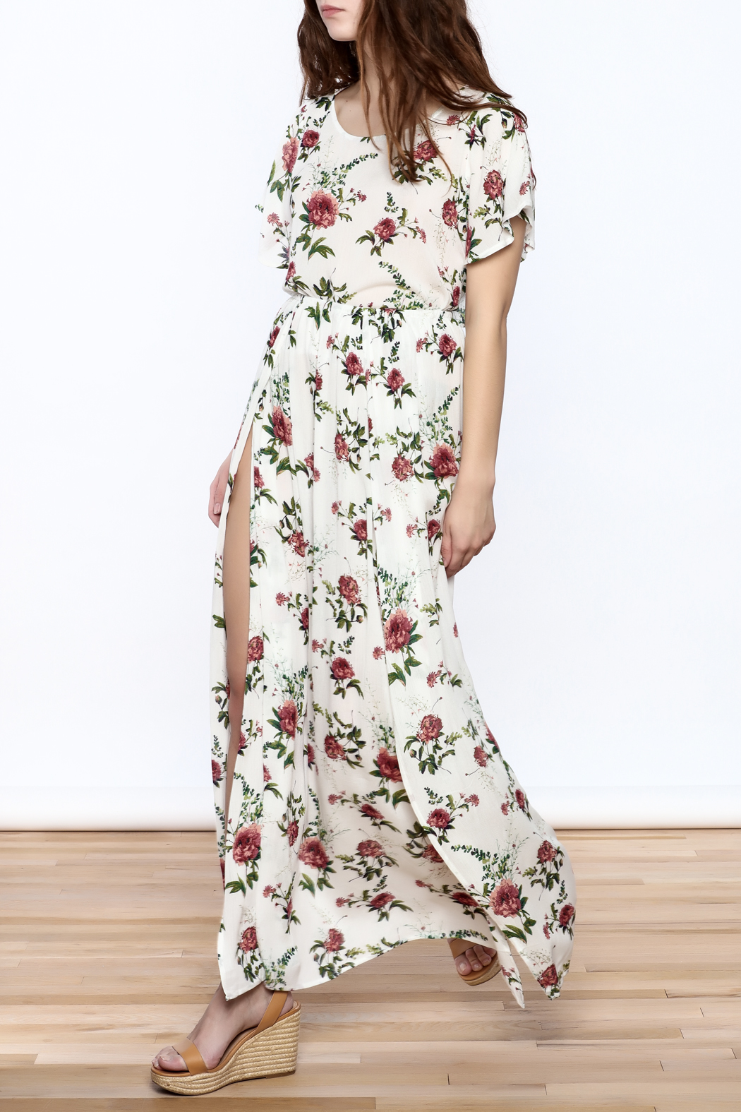 AAKAA Floral Skirt Set - Side Cropped Image