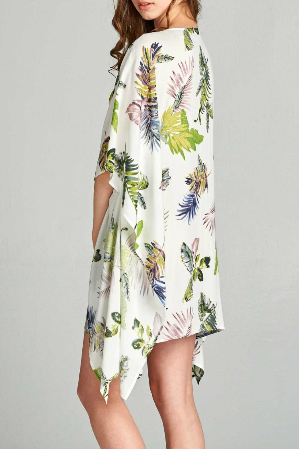 AAKAA Floral Tie Front Dress - Side Cropped Image