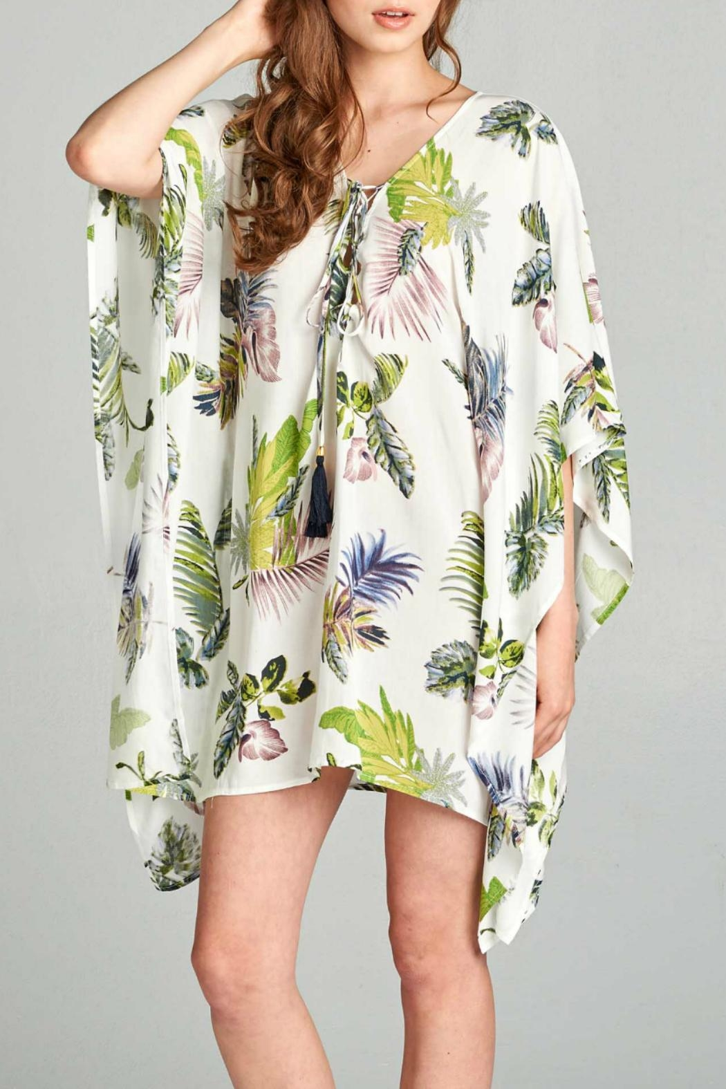 AAKAA Floral Tie Front Dress - Main Image