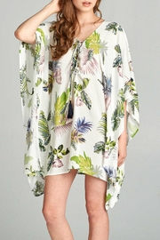 AAKAA Floral Tie Front Dress - Front cropped