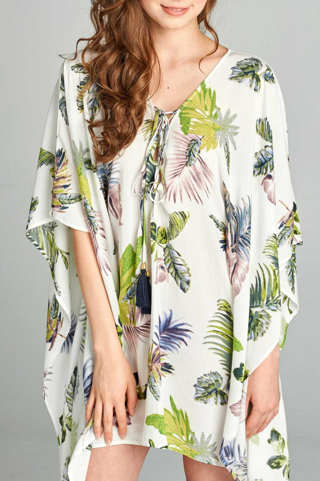 AAKAA Floral Tie Front Dress - Front Full Image