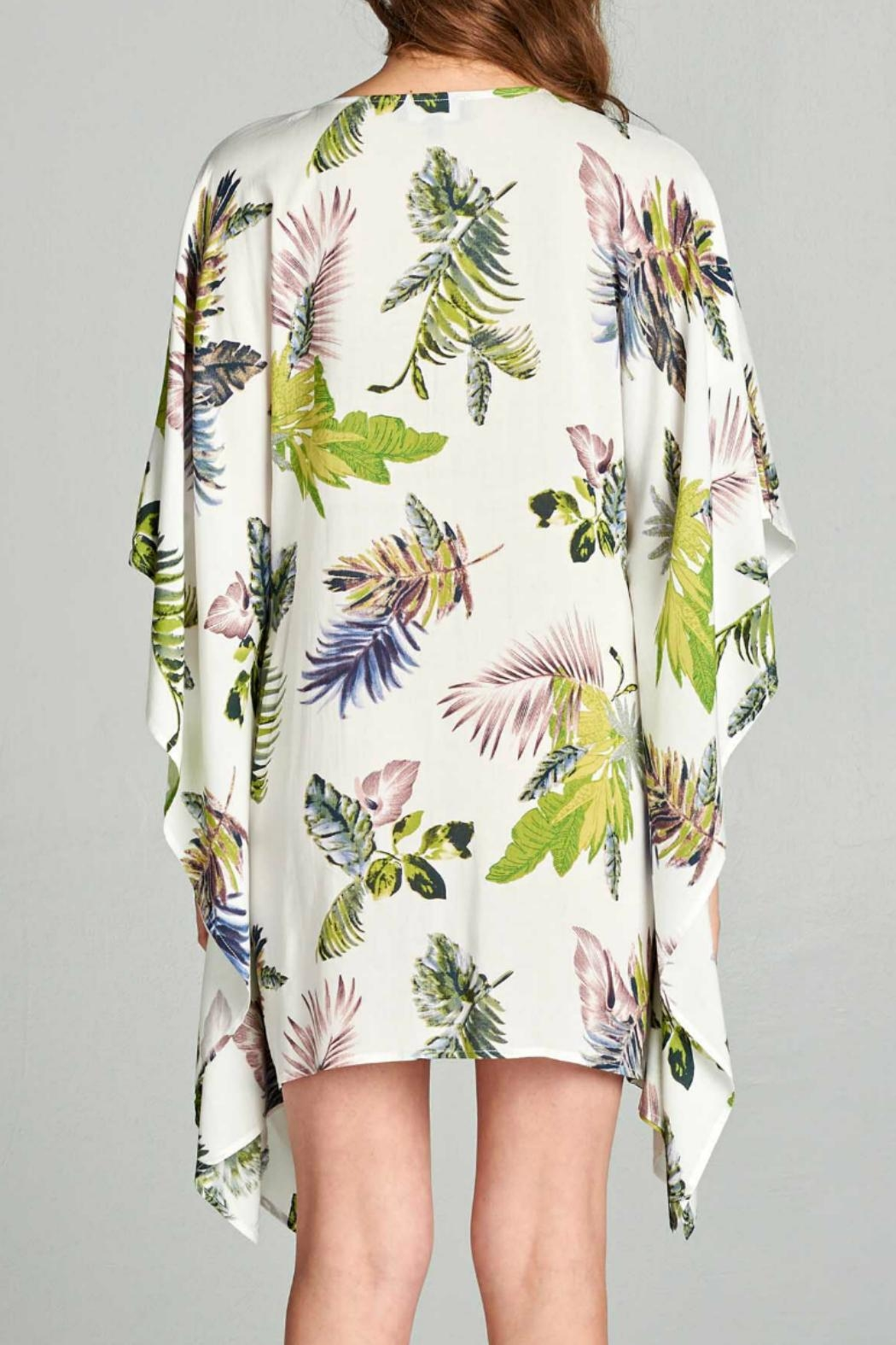 AAKAA Floral Tie Front Dress - Back Cropped Image