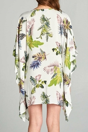 AAKAA Floral Tie Front Dress - Back cropped