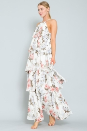 AAKAA Floral Tiered Maxi - Front full body