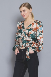 AAKAA Floral Wrap Blouse - Side cropped