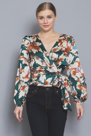 AAKAA Floral Wrap Blouse - Front full body