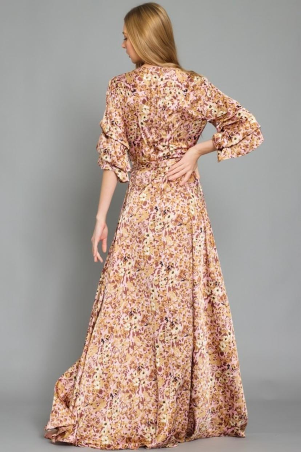 AAKAA Floral Wrap Maxi - Side Cropped Image