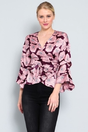 AAKAA Floral Wrap Top - Front cropped