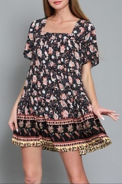 AAKAA Flower Dance Mix Print Baby Doll Dress - Product List Image