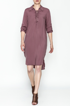 AAKAA Lace Up Midi Dress - Product List Image