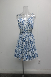 AAKAA Leaf Print Dress - Front cropped