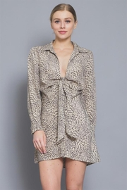 AAKAA Leopard Mini Dress - Front cropped