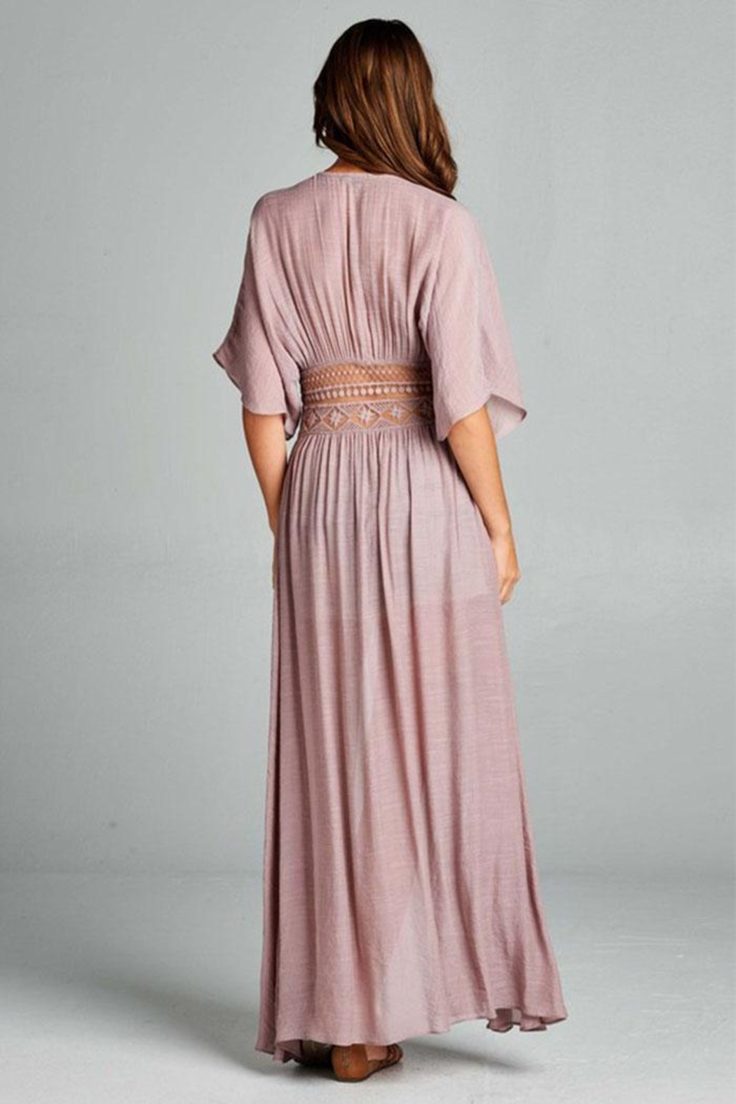 AAKAA Long Coverup Dress - Side Cropped Image