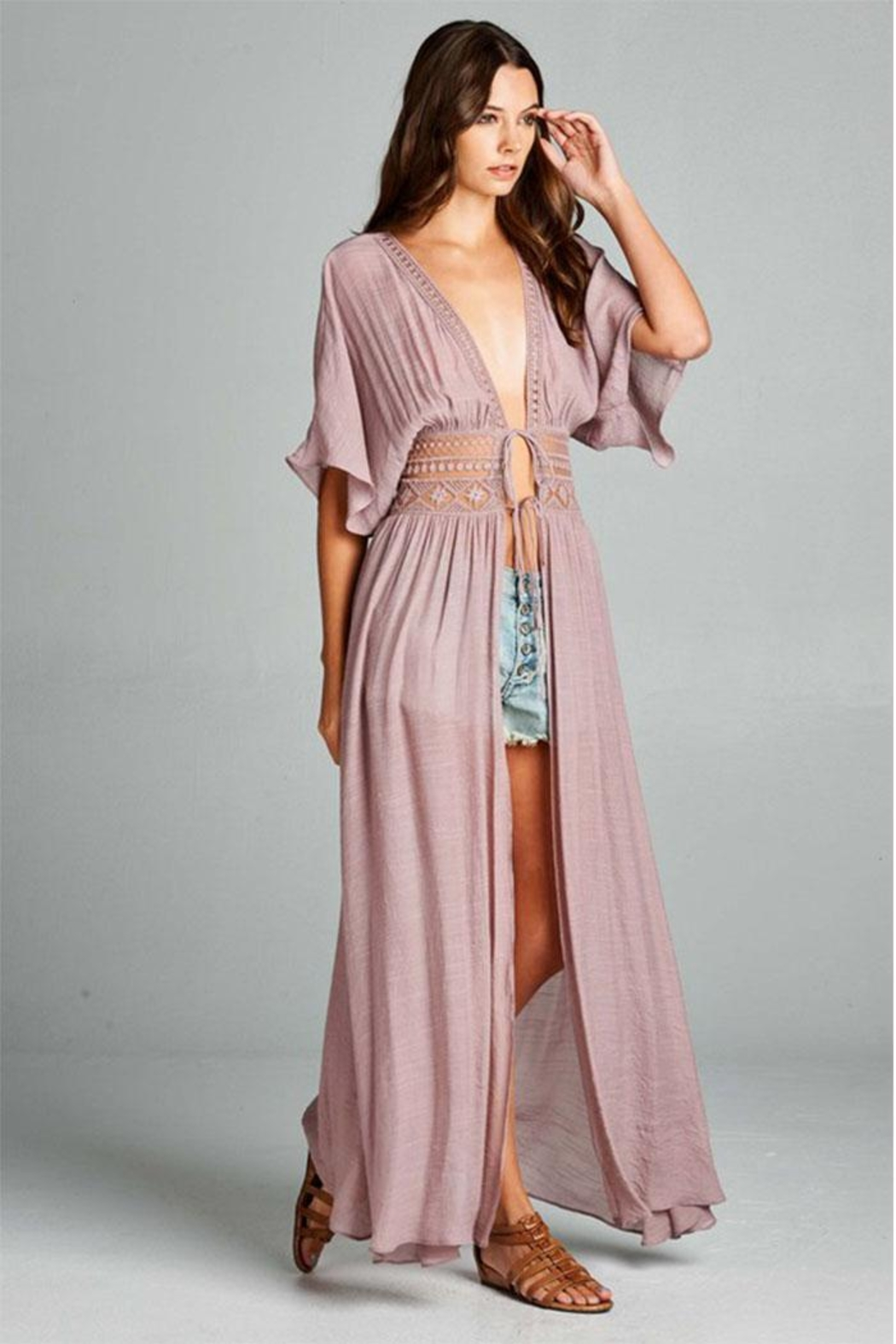 AAKAA Long Coverup Dress - Front Cropped Image