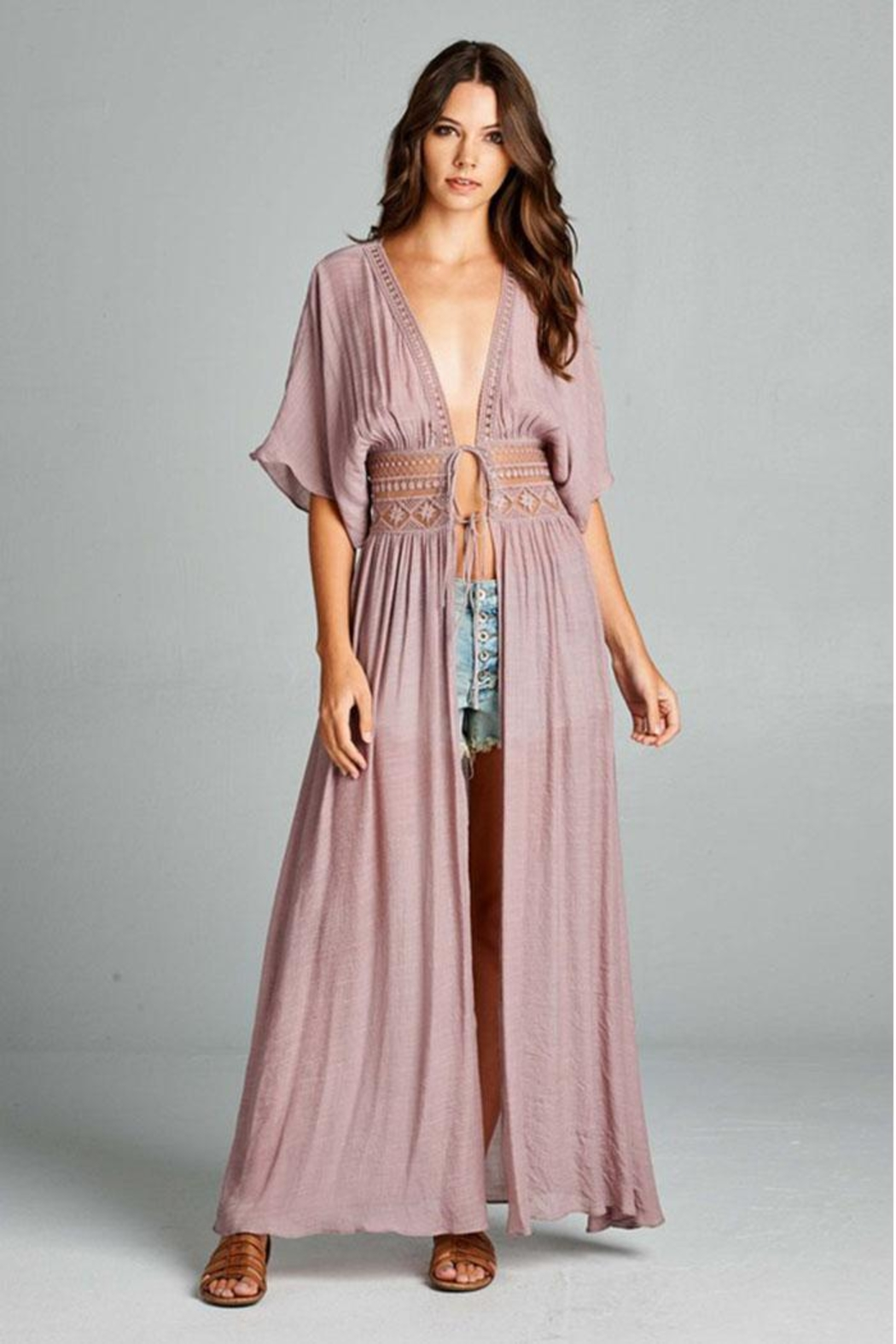 AAKAA Long Coverup Dress - Front Full Image