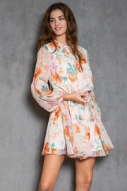 AAKAA Long-Sleeve Printed Dress - Side cropped