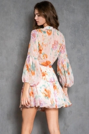 AAKAA Long-Sleeve Printed Dress - Back cropped