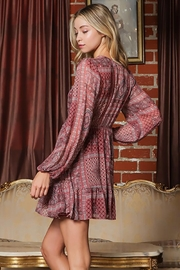 AAKAA Long-Sleeve V-Neck Button Down Mini Dress - Side cropped