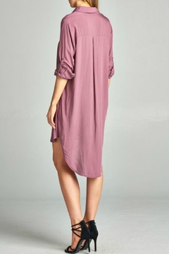 AAKAA Mauve Lace Up Dress - Alternate List Image