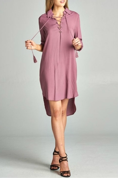 AAKAA Mauve Lace Up Dress - Product List Image