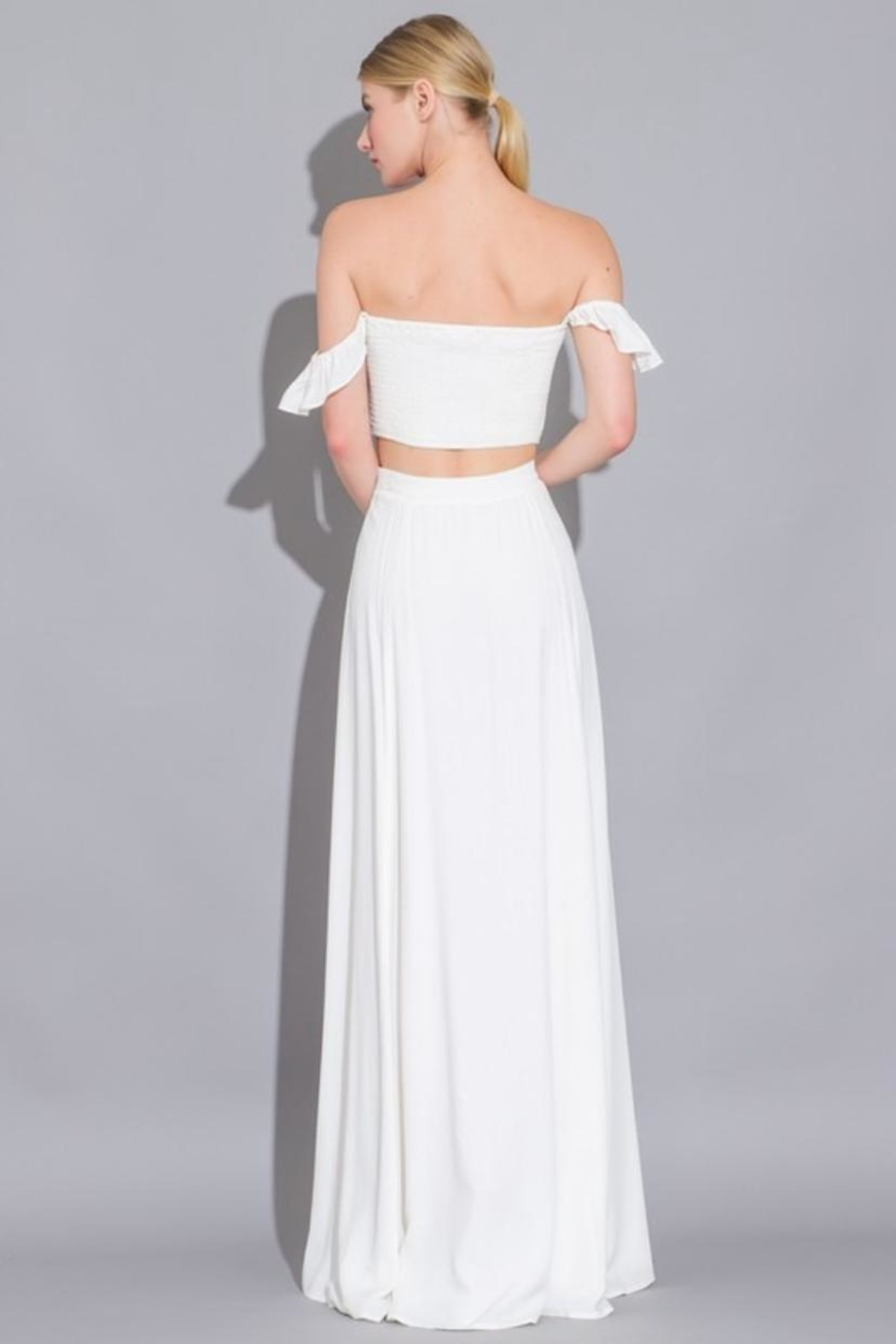 AAKAA Maxi Skirt Set - Side Cropped Image