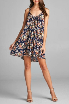 AAKAA Navy Floral Dress - Product List Image