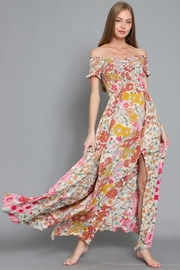 AAKAA Off-Shoulder Floral Maxi - Front cropped