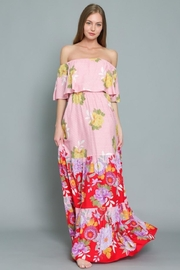 AAKAA Off-Shoulder Floral Maxi - Product Mini Image