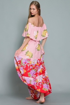 AAKAA Off-Shoulder Floral Maxi - Alternate List Image